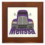 Trucker Melissa Framed Tile