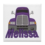Trucker Melissa Tile Coaster