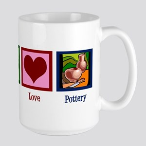 Peace Love Pottery Large Mug
