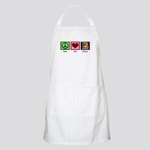 Peace Love Pottery Apron