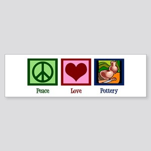 Peace Love Pottery Sticker (Bumper)