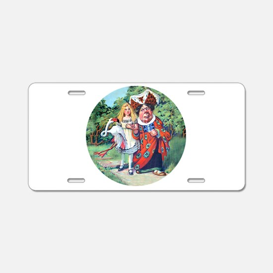 Alice and the Duchess_RD.png Aluminum License Plat