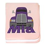 Trucker Mia baby blanket