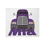 Trucker Mia Throw Blanket