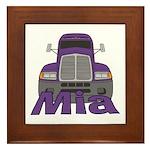 Trucker Mia Framed Tile