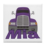 Trucker Mia Tile Coaster
