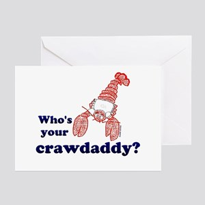 Who's Your Crawdaddy Greeting Cards (Pk of 10)