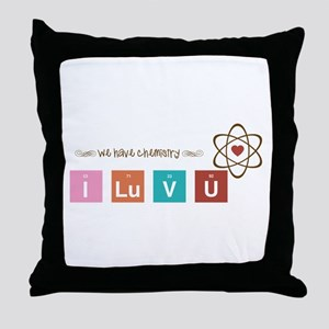 We Have Chemistry Throw Pillow