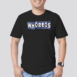 whoreos copy Men's Fitted T-Shirt (dark)