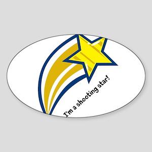 shooting star Sticker (Oval)