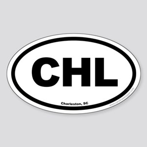 Charleston South Carolina EURO Oval Sticker
