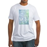 Blue Bokeh Fitted T-Shirt