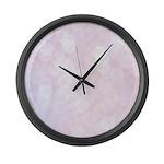 Pink Bokeh Large Wall Clock