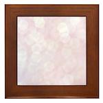 Pink Bokeh Framed Tile