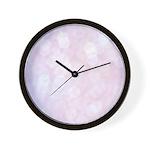 Pink Bokeh Wall Clock