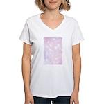 Pink Bokeh Women's V-Neck T-Shirt