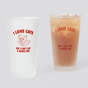 I Love Cats Drinking Glass