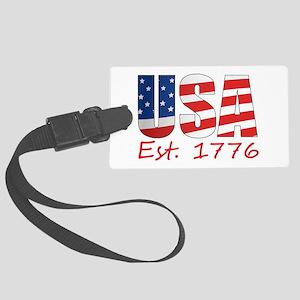 USA 1776 Large Luggage Tag