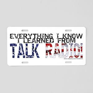 TALK RADIO Aluminum License Plate
