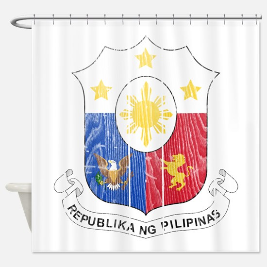 Philippines Coat Of Arms Shower Curtain
