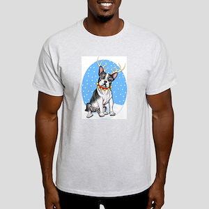 Boston Terrier Reindeer Light T-Shirt