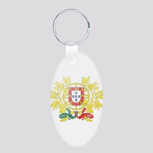Portugal Coat Of Arms Aluminum Oval Keychain