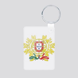 Portugal Coat Of Arms Aluminum Photo Keychain