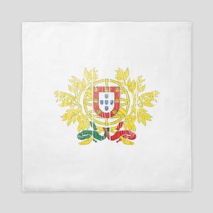 Portugal Coat Of Arms Queen Duvet