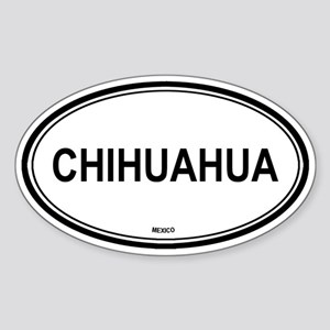 Chihuahua, Mexico euro Oval Sticker