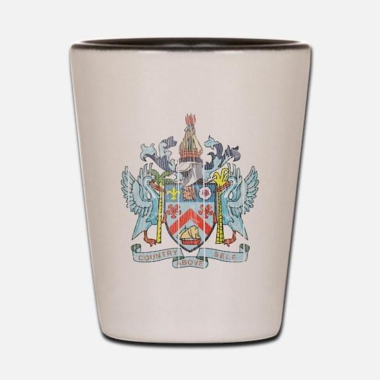 Saint Kitts Nevis Coat Of Arms Shot Glass