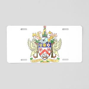 Saint Kitts Nevis Coat Of Arms Aluminum License Pl