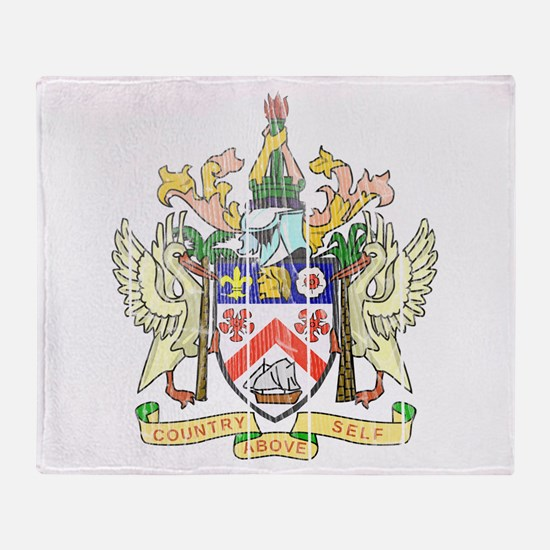 Saint Kitts Nevis Coat Of Arms Throw Blanket