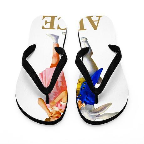 ALICE & THE WHITE RABBIT Flip Flops