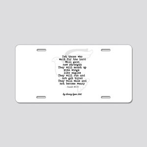 Spiritual Renewal Aluminum License Plate