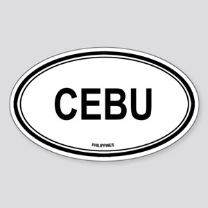 Cebu, Philippines euro Oval Sticker