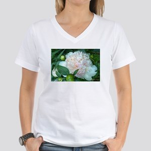 Peonies Women's V-Neck T-Shirt