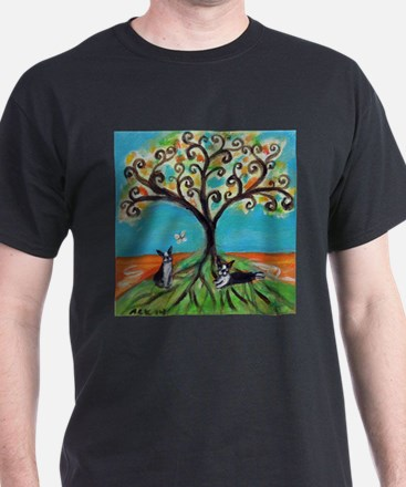 Boston Terriers Tree T-Shirt