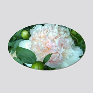Peonies 20x12 Oval Wall Decal