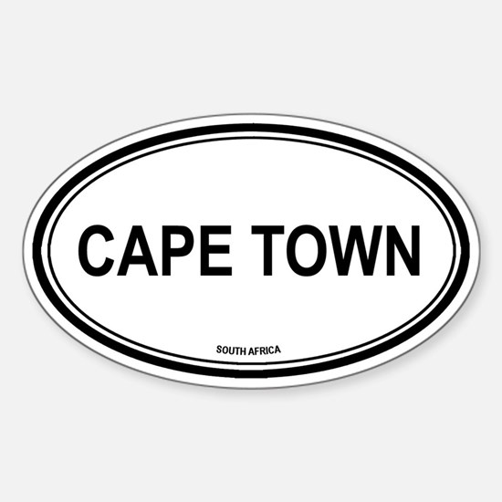 Cape Town, South Africa euro Oval Decal