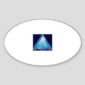 Sigma Alpha Delta Sticker (Oval)