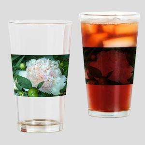 Peonies Drinking Glass