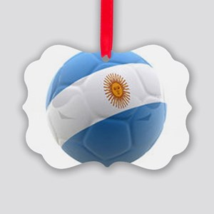 Argentina world cup soccer ball Picture Ornament