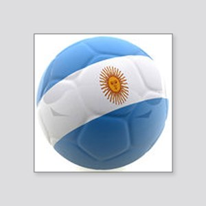 """Argentina world cup soccer ball Square Sticker 3"""""""