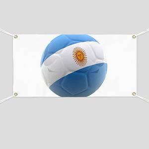 Argentina world cup soccer ball Banner