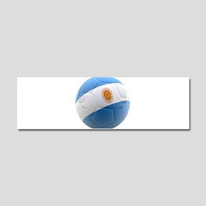 Argentina world cup soccer ball Car Magnet 10 x 3