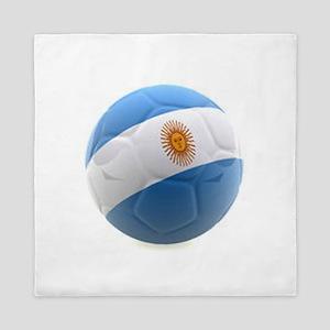 Argentina world cup soccer ball Queen Duvet