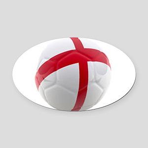 England world cup soccer ball Oval Car Magnet