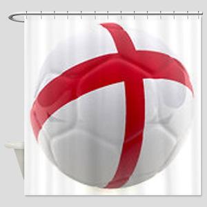 England world cup soccer ball Shower Curtain