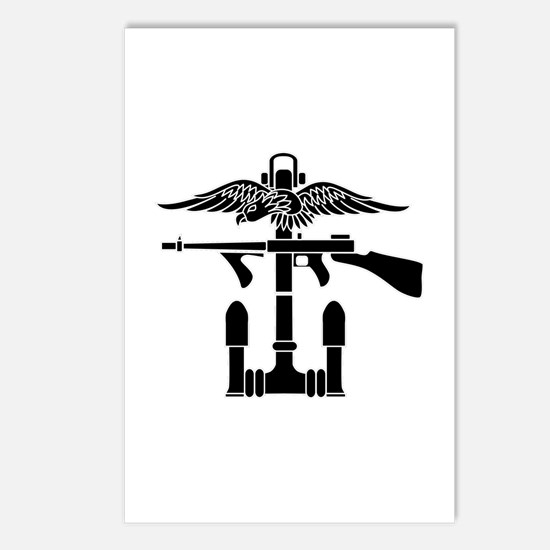 Combined Operations B-W Postcards (Package of 8)