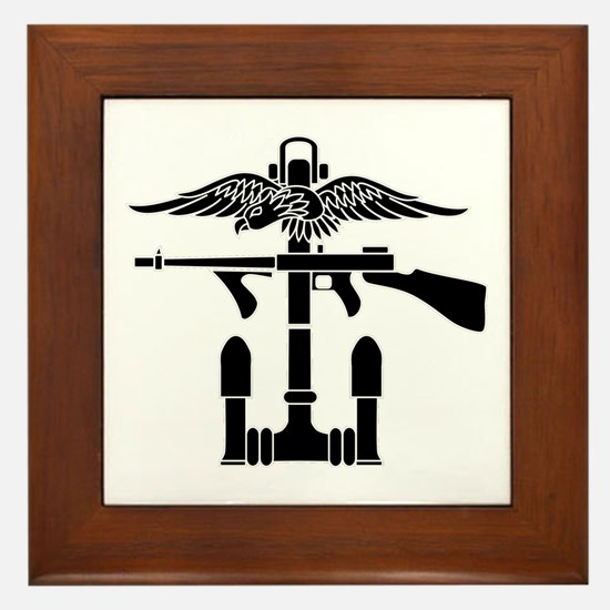 Combined Operations B-W Framed Tile